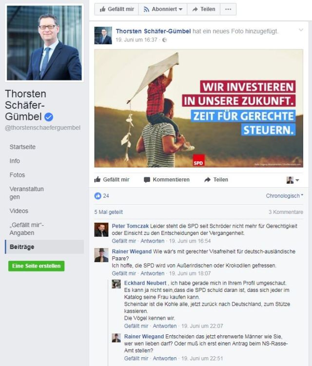 SPD-Hassposting